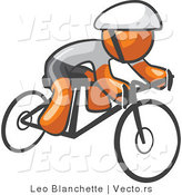 Vector of Orange Guy Cyclist by Leo Blanchette