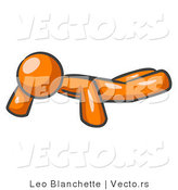 Vector of Orange Guy Doing Pushups by Leo Blanchette