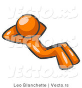 Vector of Orange Guy Doing Sit Ups by Leo Blanchette
