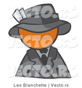 Vector of Orange Guy Dressed for a Night on the Town by Leo Blanchette
