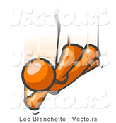 Vector of Orange Guy Free Falling While Skydiving by Leo Blanchette
