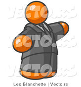 Vector of Orange Guy in a Suit and Tie by Leo Blanchette
