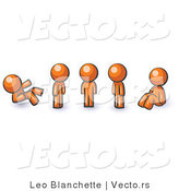 Vector of Orange Guy in Different Poses by Leo Blanchette