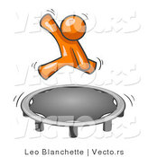 Vector of Orange Guy Jumping on a Trampoline by Leo Blanchette