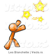 Vector of Orange Guy Reaching for the Stars by Leo Blanchette