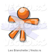 Vector of Orange Guy Restrained with Tape by Leo Blanchette