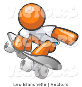Vector of Orange Guy Skateboarder by Leo Blanchette