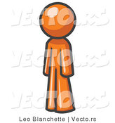 Vector of Orange Guy Standing up Straight by Leo Blanchette