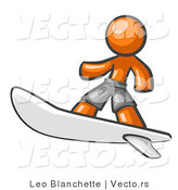 Vector of Orange Guy Surfer by Leo Blanchette