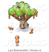 Vector of Orange Guy Watching Others Fall from the Family Tree by Leo Blanchette