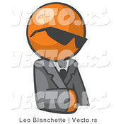 Vector of Orange Guy Wearing Shades and Wearing Business Suit by Leo Blanchette