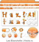 Vector of Orange Guy Web Template with Tabs and Buttons by Leo Blanchette
