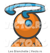 Vector of Orange Guy with a Question Mar by Leo Blanchette