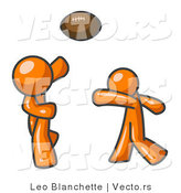 Vector of Orange Guys Playing Football by Leo Blanchette
