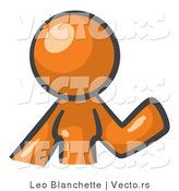 Vector of Orange Woman Waving by Leo Blanchette