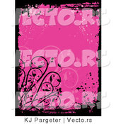 Vector of Pink Grunge Background with Splatters by KJ Pargeter