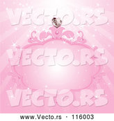 Vector of Pink Princess with a Heart Diamond and Rays by Pushkin