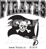Vector of Pirates Flag with Sword - Sports Team Art by Johnny Sajem