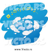 Vector of Polar Bears Playing Musical Ice Chairs over Blue by Zooco