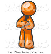 Vector of Proud Orange Guy Standing with His Arms Crossed by Leo Blanchette