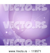 Vector of Purple Abstract Background with Flares and Lines by Vectorace