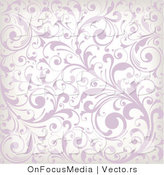 Vector of Purple and White Background Vines Pattern by OnFocusMedia