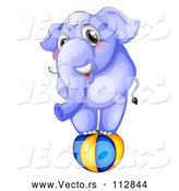 Vector of Purple Elephant Balancing on a Ball by Graphics RF