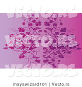 Vector of Purple Floral Vines Background by Mayawizard101