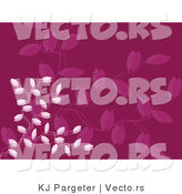 Vector of Purple Vines Background Design by KJ Pargeter