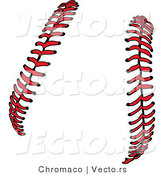 Vector of Red Baseball Stitching by Chromaco