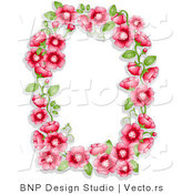 Vector of Red Flowers and Green Leaves Shaping a Frame with Blank CopyspaceRed Flowers and Green Leaves Shaping a Frame with Blank Copyspace by BNP Design Studio