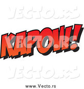 January 7th, 2015: Vector of Red Kapow Text by Ron Leishman