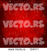 Vector of Red Sparkly Christmas Star Background by Elaineitalia