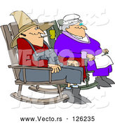 Vector of Relaxed Cartoon Couple Sitting in Rocking Chairs by Djart