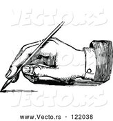 Vector of Retro Black and White Hand Writing with a Fountain Pen 2 by Prawny Vintage