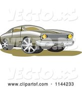 Vector of Retro Ford Fairmont Muscle Car by Patrimonio