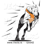 Vector of Retro Running Greyhound Dog 2 by Patrimonio