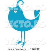Vector of Retro Styled Blue Bird 2 by Vector Tradition SM
