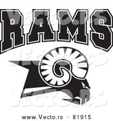 Vector of Rival RAMS Goat Head - Sports Mascot Art by Johnny Sajem