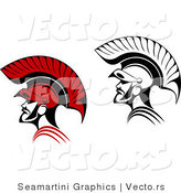 Vector of Roman Soldiers - Color and Black and White Versions by Vector Tradition SM