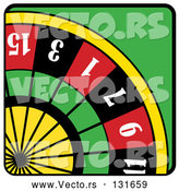Vector of Roulette Game Wheel by Andy Nortnik