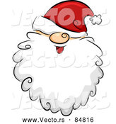 Vector of Santa Claus Face with His Hat over His Eyes by BNP Design Studio