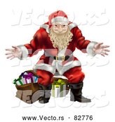 Vector of Santa Claus Standing with Presents by AtStockIllustration