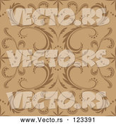Vector of Seamless Brown and Tan Floral Pattern by Dero