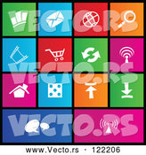 Vector of Set of Colorful Square Web Site Page Metro Style Icons by Cidepix