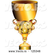 Vector of Shiny Gold Trophy Cup by MilsiArt
