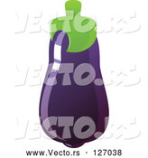 Vector of Shiny Purple Eggplant by Tonis Pan