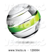 Vector of Shiny White and Green Globe by Beboy