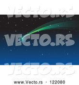 Vector of Shooting Star Comet in a Night Sky by Graphics RF