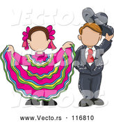 Vector of Sketched Child Folk Dancers by David Rey